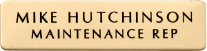 Brass Name Badge