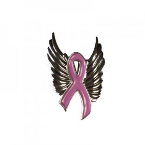 Breast Cancer Awareness Wing Pin