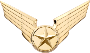 7960 Cap Badge with Generic Emblem